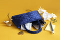 Satin Handbag (S) – Blue