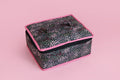 Jewellery Organiser - 4 Detachable pouch (Black Floral)