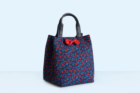 Lunch Bag/ Multipurpose Bag (Red Floral)