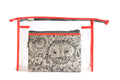 Peach & Owl Transparent Multi – Purpose pouch