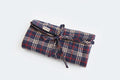 Roll Up Multipurpose Pouch - Blue Checks