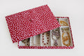Stackable (10 Partitions) - Burgundy Dots