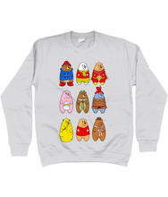 Load image into Gallery viewer, A collection of famous cartoon bears on a grey sweater
