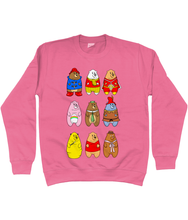 Load image into Gallery viewer, A collection of famous cartoon bears on a pink sweater