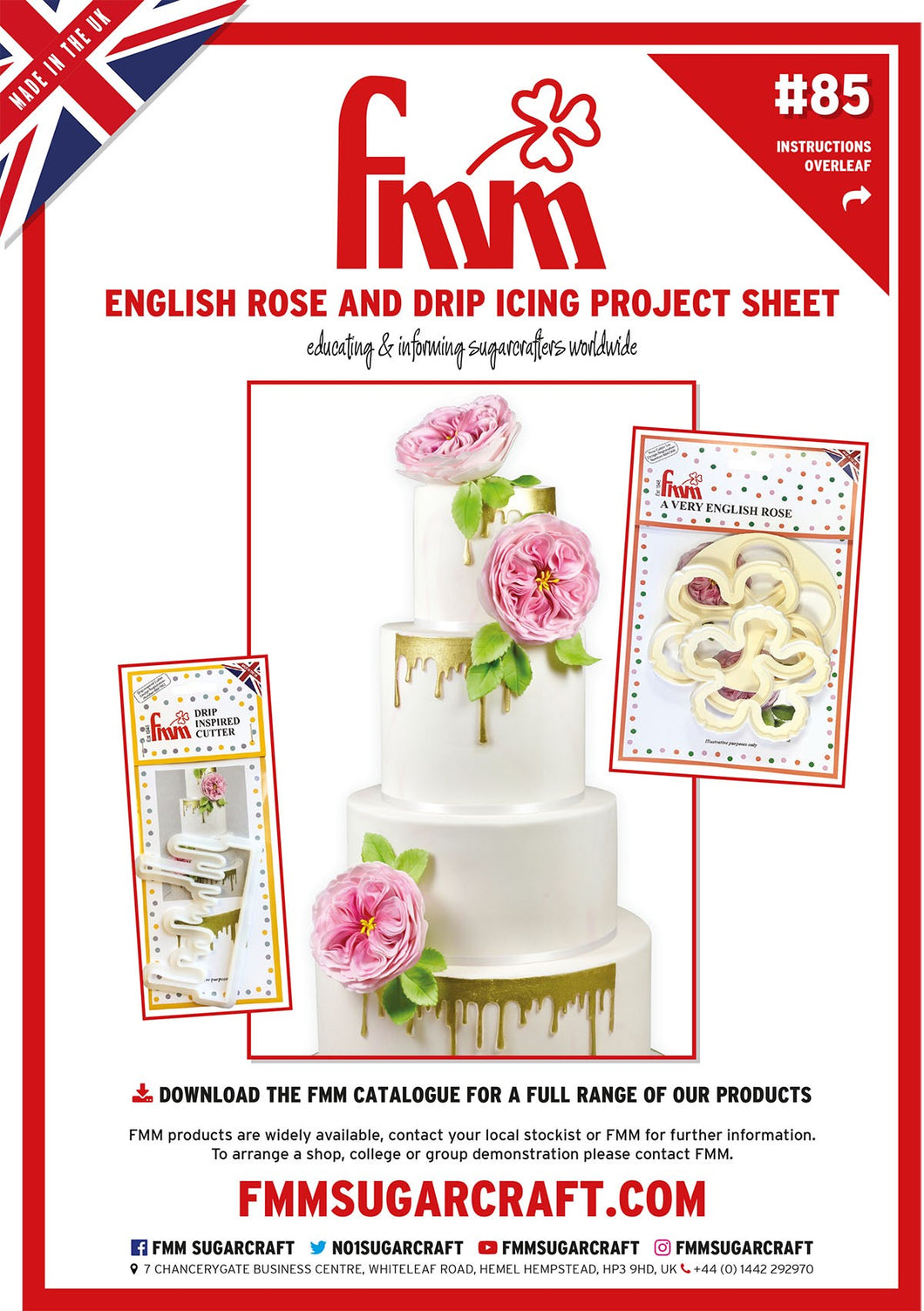 A Very English Rose and Drip Cutters Project Sheet