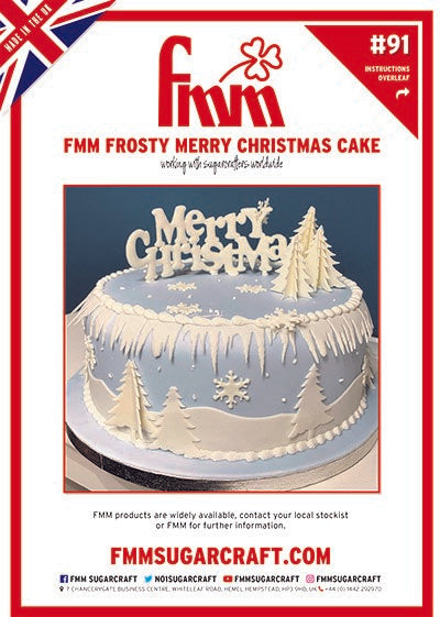 FMM Frosty Merry Christmas Cake by Carol Haycox