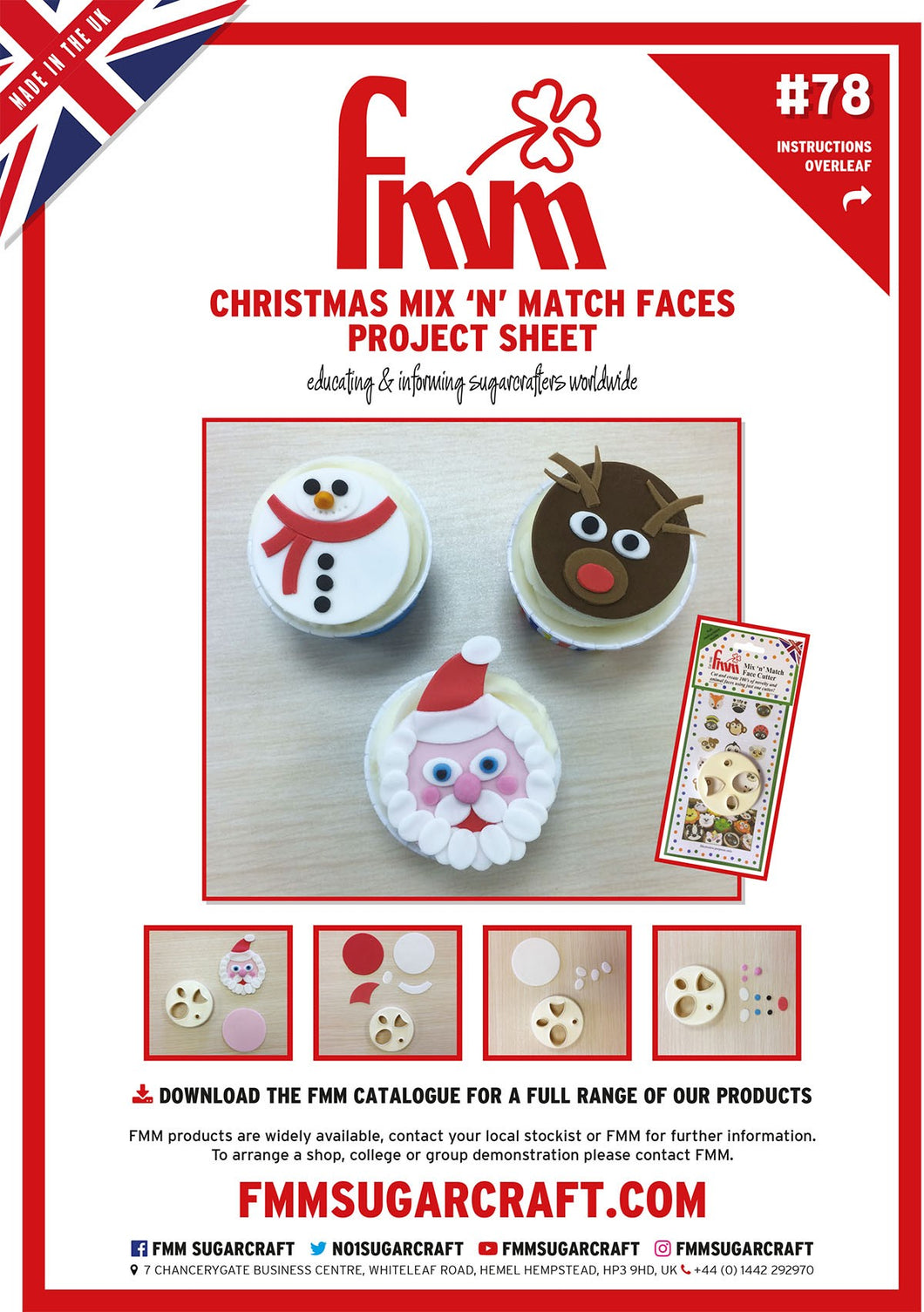 FMM Mix N Match Christmas Faces Project Sheet
