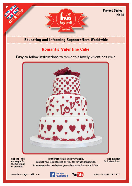 FMM Romantic Valentines Cake Project Sheet