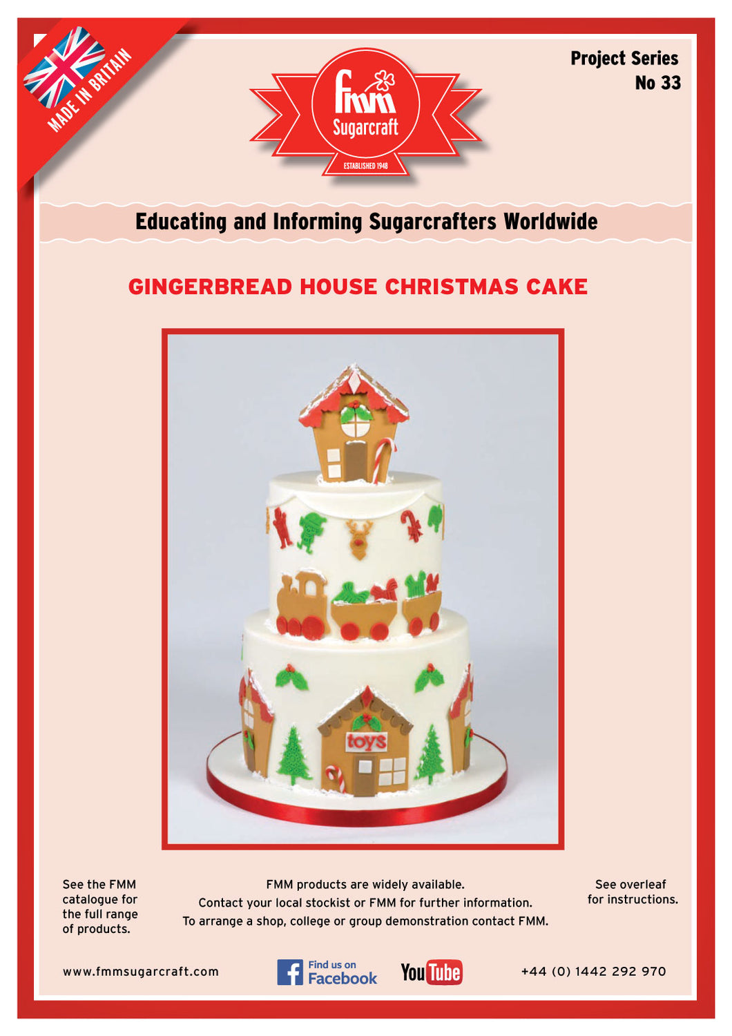 FMM Gingerbread Christmas House Project Sheet