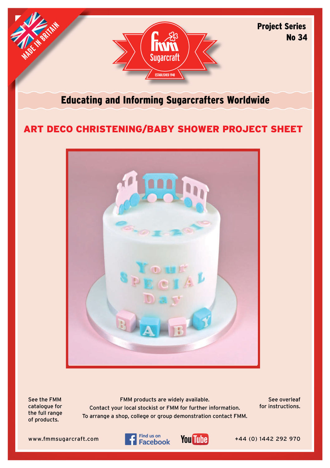FMM Art Deco Baby Shower Cake Project Sheet