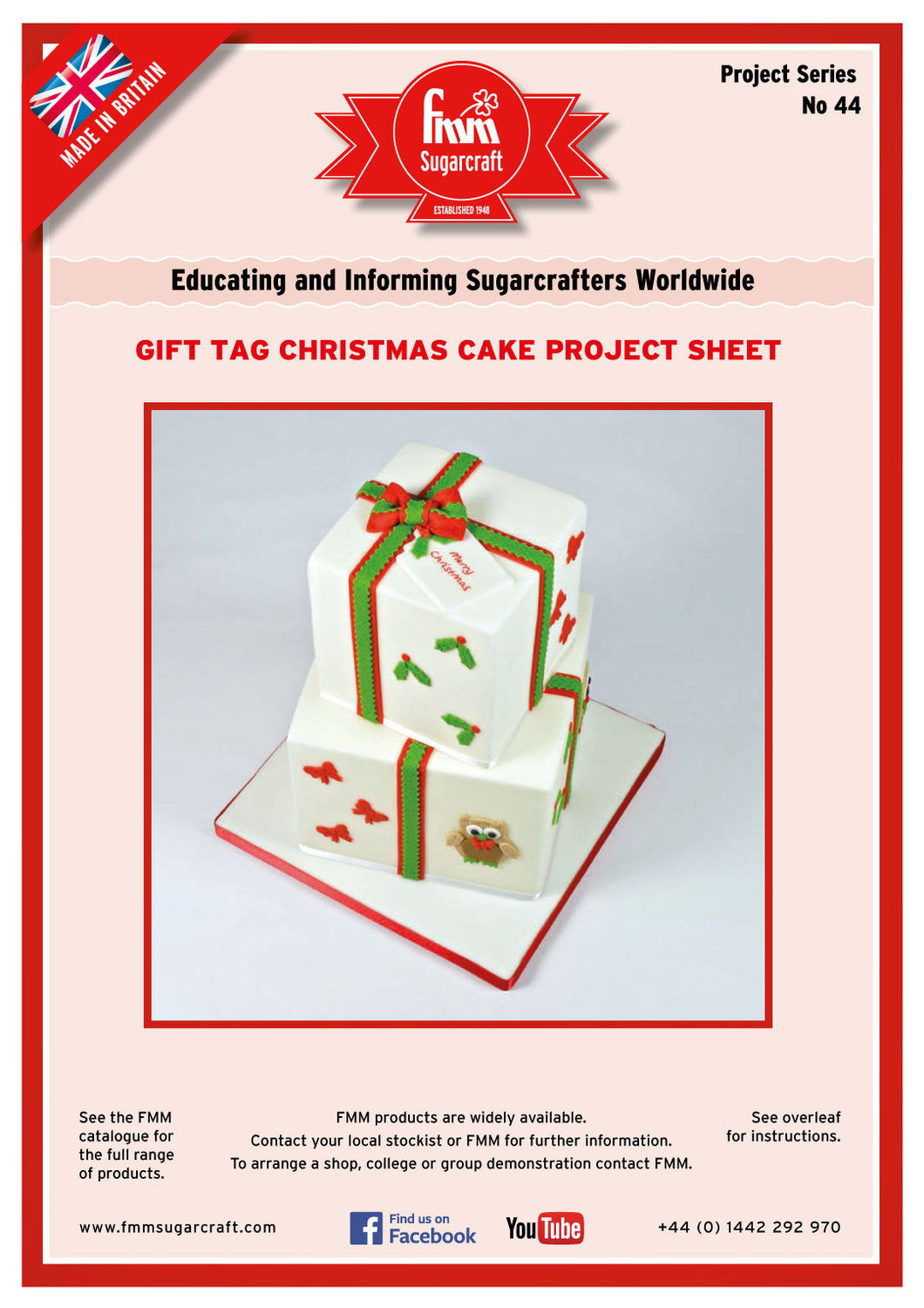 FMM Gift Tag Project Sheet