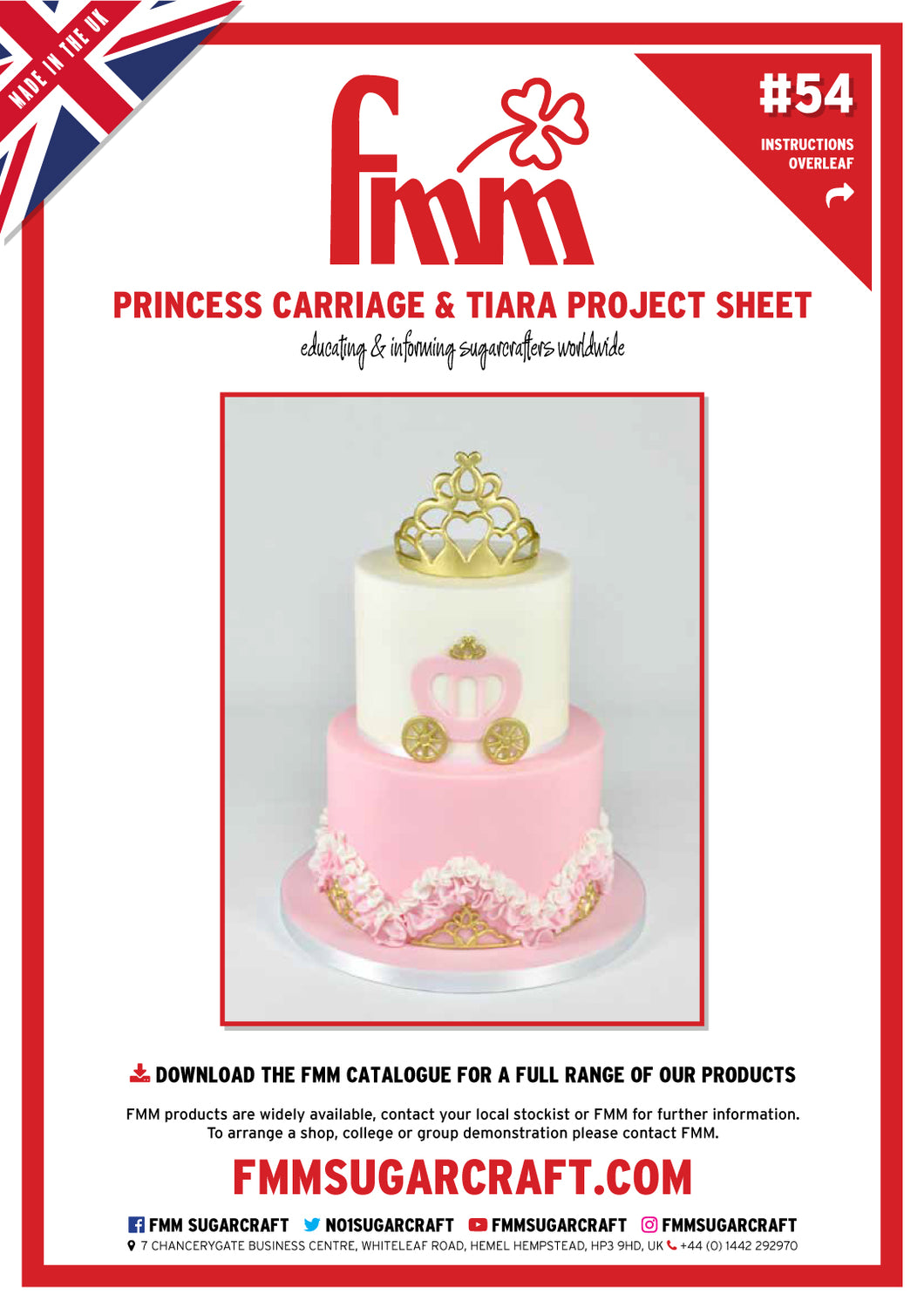 FMM Princess Carriage Cake & Cupcakes Project Sheet