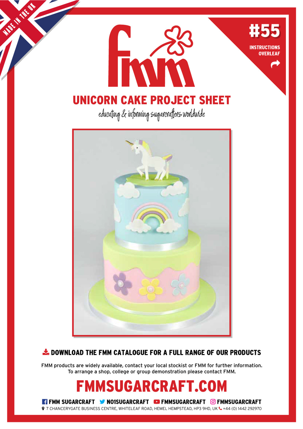 FMM Unicorn Cake Project Sheet