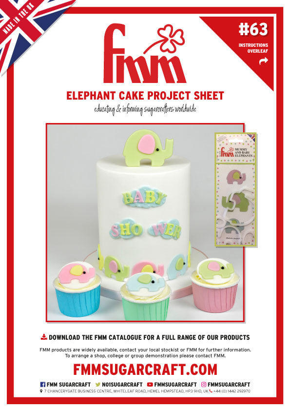 FMM Mummy & Baby Elephant Cake Project Sheet