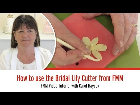 How to use the FMM Bridal Lily Cutter Set