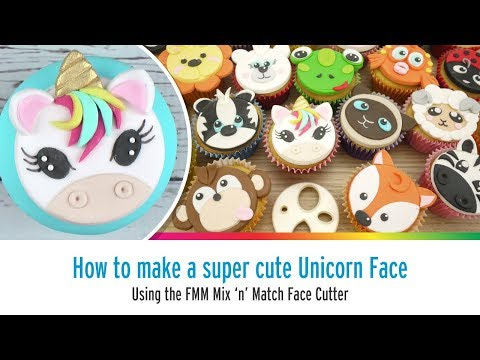 Cute Unicorn Face Using the FMM Mix N Match Face Cutter