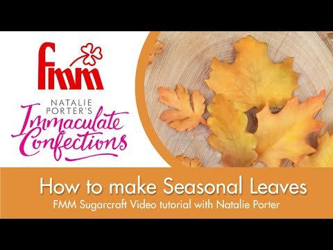 How to use the FMM Sugarcraft Seasonal Leaves Cutter Set