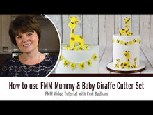 Load and play video in Gallery viewer, FMM Mummy and Baby Giraffe Cutter Set Tutorial