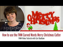 Load and play video in Gallery viewer, How to use the FMM Curved words Merry Christmas Cutter