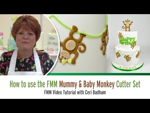 How to use the FMM Mummy & Baby Monkey Cutter Set