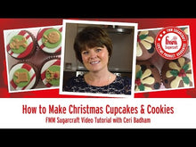Load and play video in Gallery viewer, How to make Christmas Cupcakes with FMM Sugarcraft