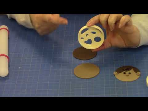 Make a Boy Face using the FMM Funny Faces Cutter