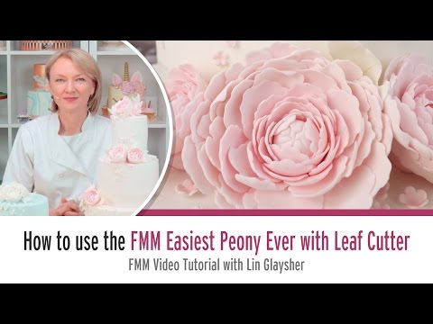 How to use the FMM Easiest Peony Ever with Leaf Cutter