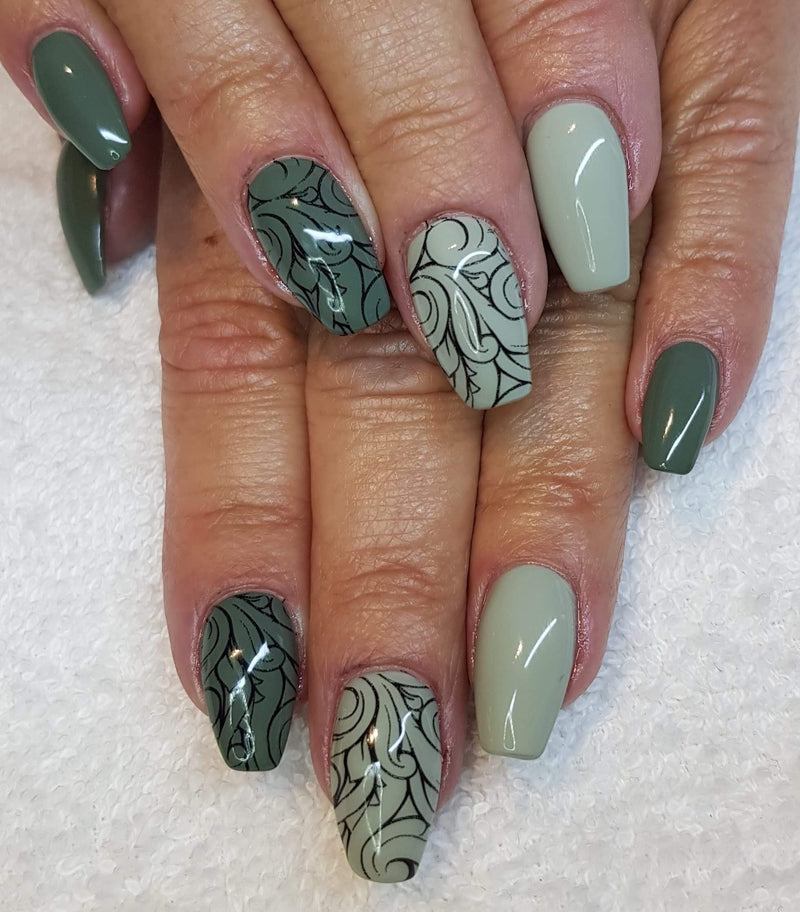 Gel Polish Smoky Green