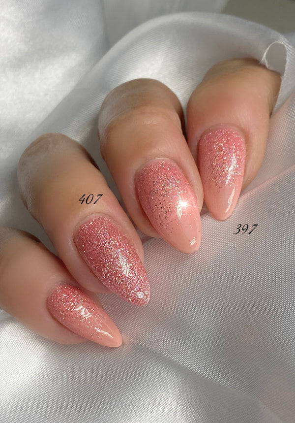 Gel Polish Rose Glitter