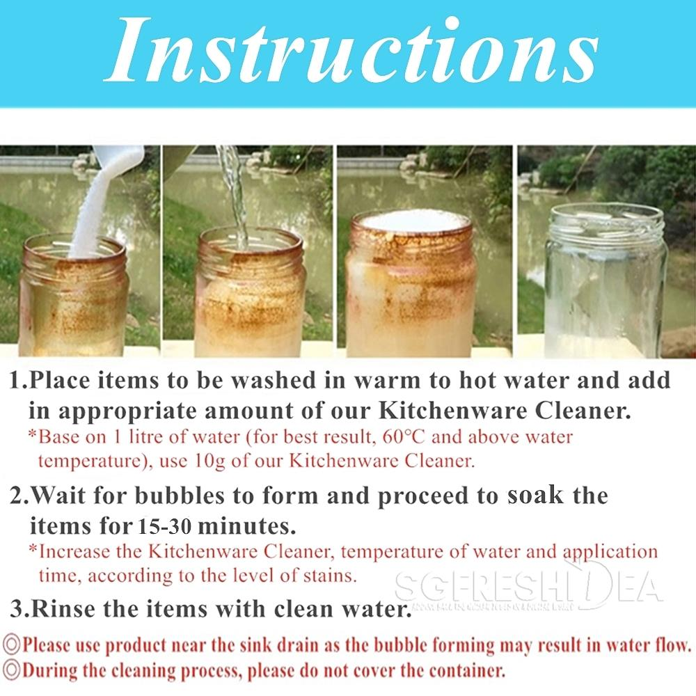 oxyaction kitchenware cleaner instructions