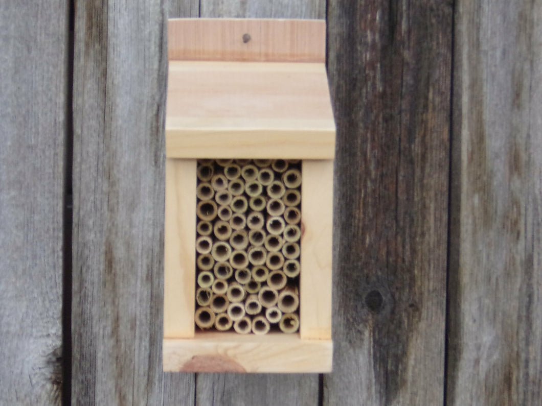 MASON BEES  HOUSE  / WITHOUT BEES