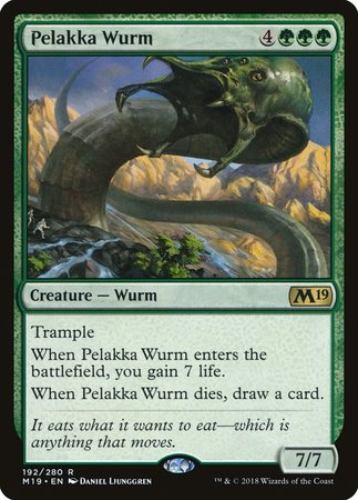 Pelakka Wurm [Core Set 2019] | Games A Plunder