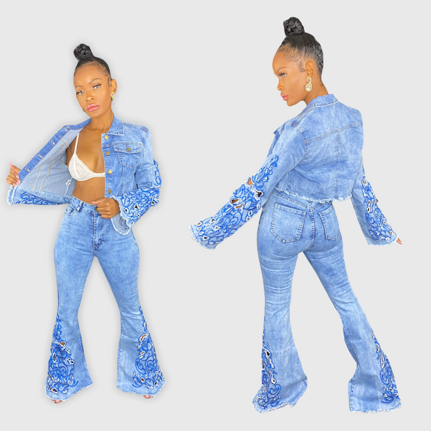 EMBROIDERY DENIM SET