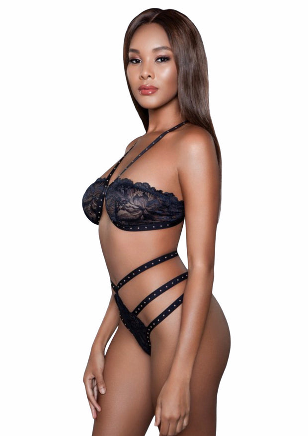 SUBMISSIVE STRAPPY LACE BRALETTE SET