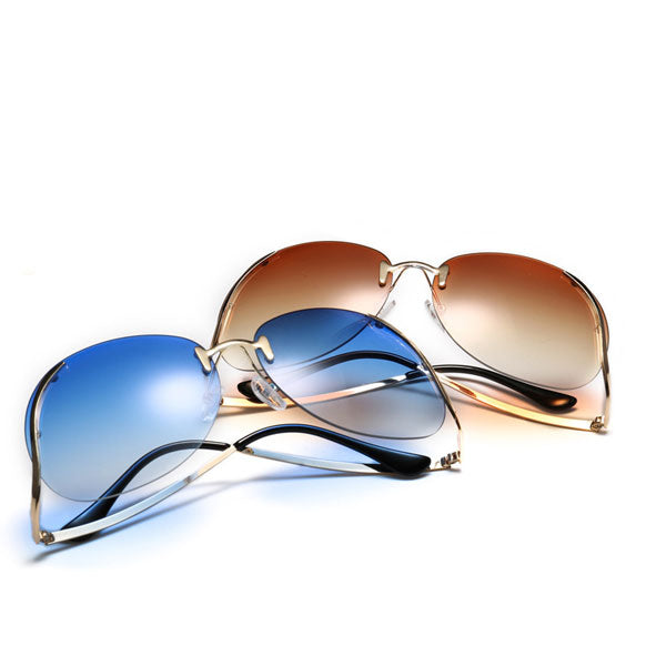 Rimless Oversize  Sunglasses