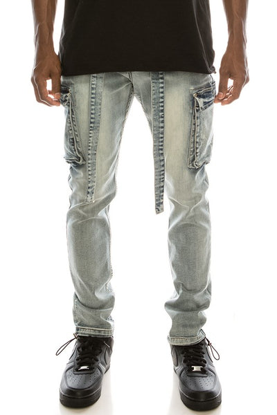 BAGGY DENIM CARGO PANTS