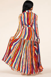 Fall Striped Maxi Dress