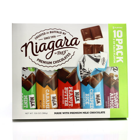 10 Pack Chocolate Bars From Niagara By Frey