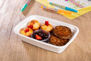 Loaded Pancake Muffins and Sausage (3x3)