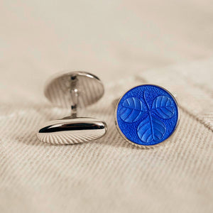 Cufflinks Sterling Clover Bluebell