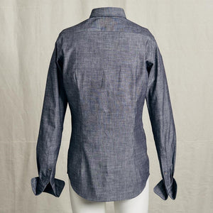 Shirt Light Denim Doppelmanschette