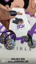 Load and play video in Gallery viewer, Bling Confetti Hair Ballies | Hair Knockers Bobbles