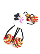 Load image into Gallery viewer, Bling Stripes Ballies | Hair Knockers Bobbles