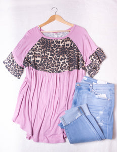 Curvy Pink Animal Top