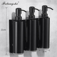 Falangshi High Quality Black Soap Dispenser Bathroom Accessories Stainless Steel 304 Wall Mounted Liquid Soap Organize WB8600-thumbnail