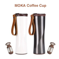 Original KissKissFish MOKA Smart Coffee Cup Travel Mug Stainless Steel with OLED Touch Screen Temperature Display 430ml Portable-thumbnail
