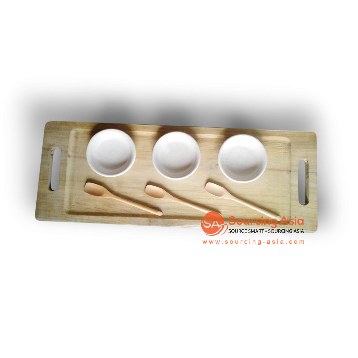 ABIAN001 SPA TRAY WITH BOWLS AND SPOONS