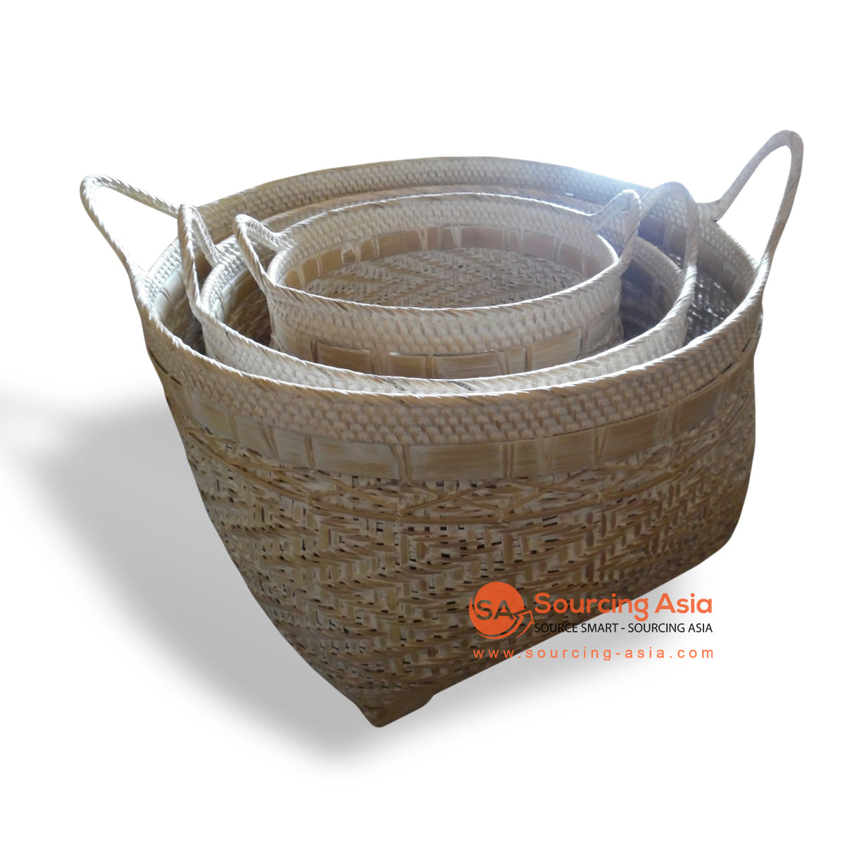 ALI050 SET OF 3 ROUND RATTAN BASKETS