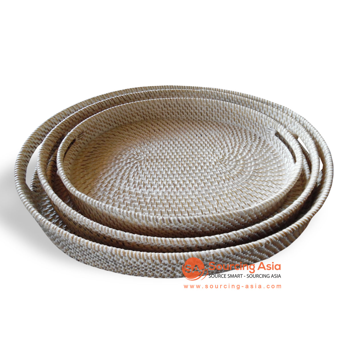 ALI052 SET OF 3 ROUND RATTAN TRAYS