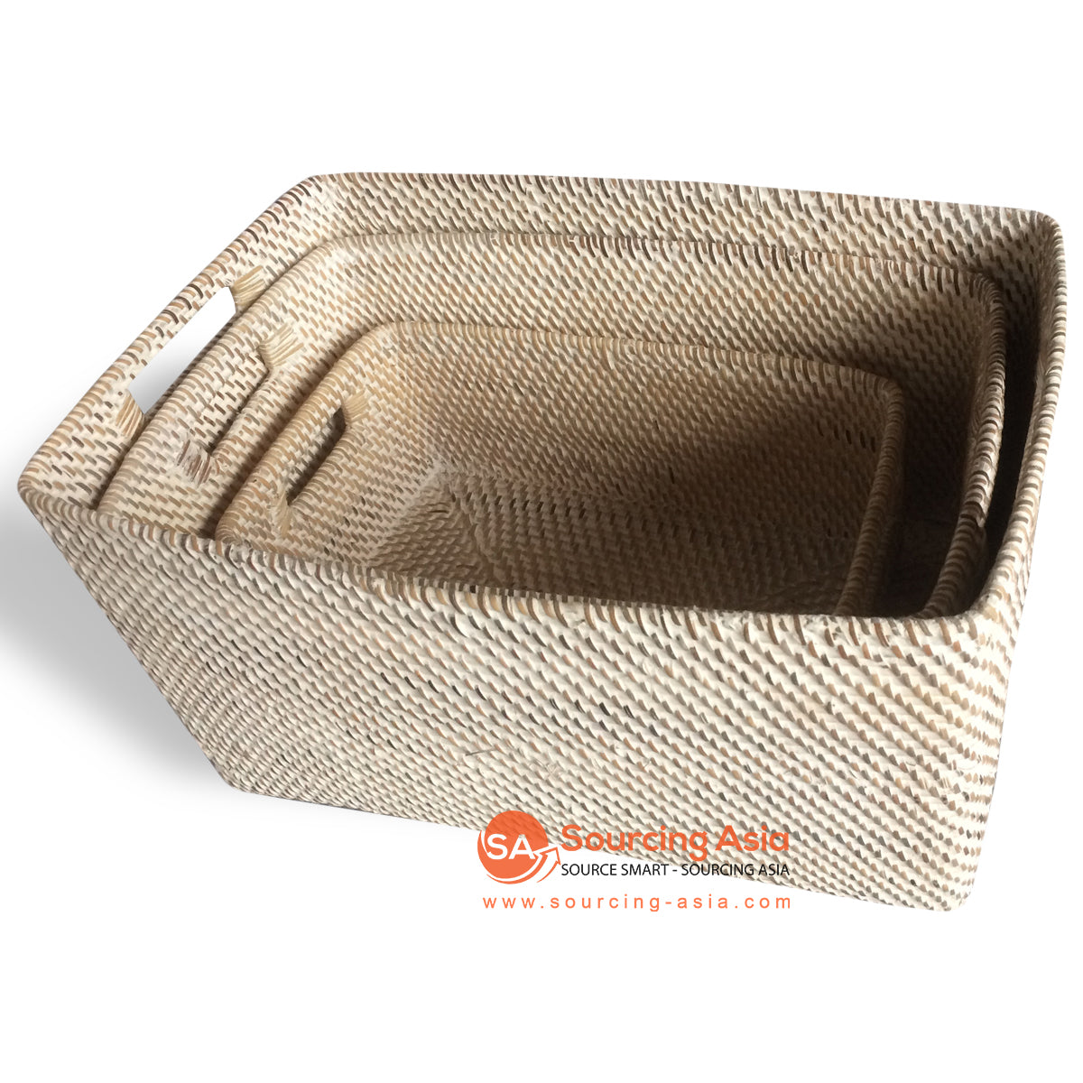 ALI053 SET OF 3 RECTANGLE BASKETS